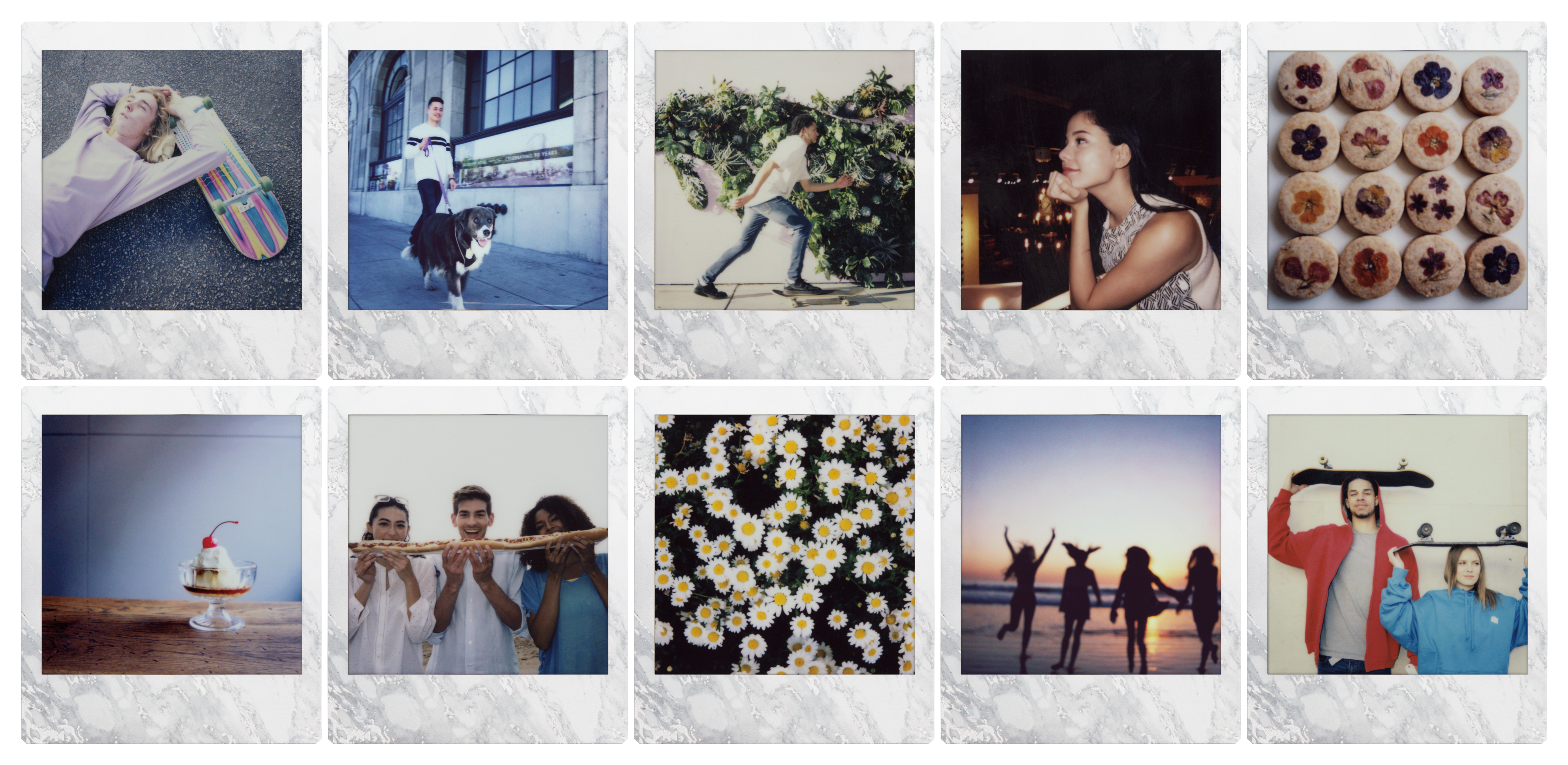 instax SQUARE film - White Marble