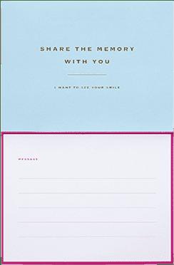 Wenskaarten instax WIDE Pink/ Blue