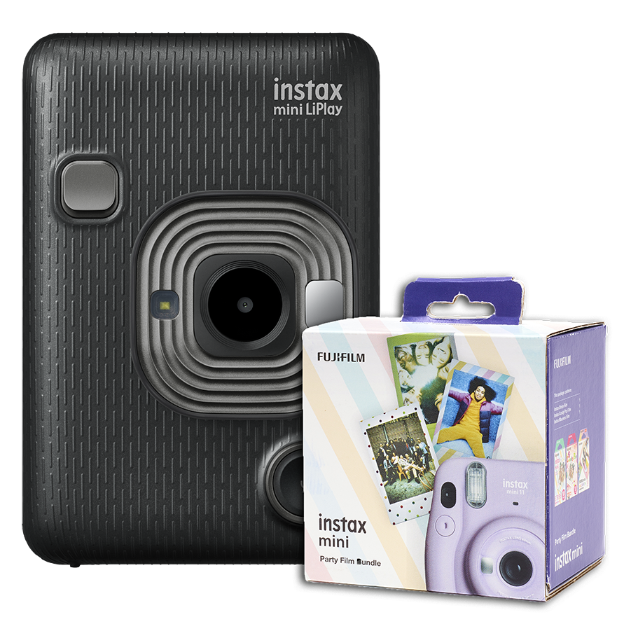 instax mini LiPlay Dark Gray + 30 films gratis!