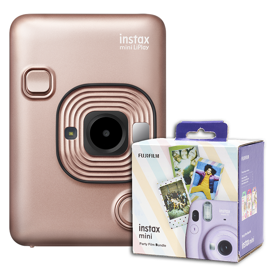 instax mini LiPlay Blush Gold + 30 films gratis!
