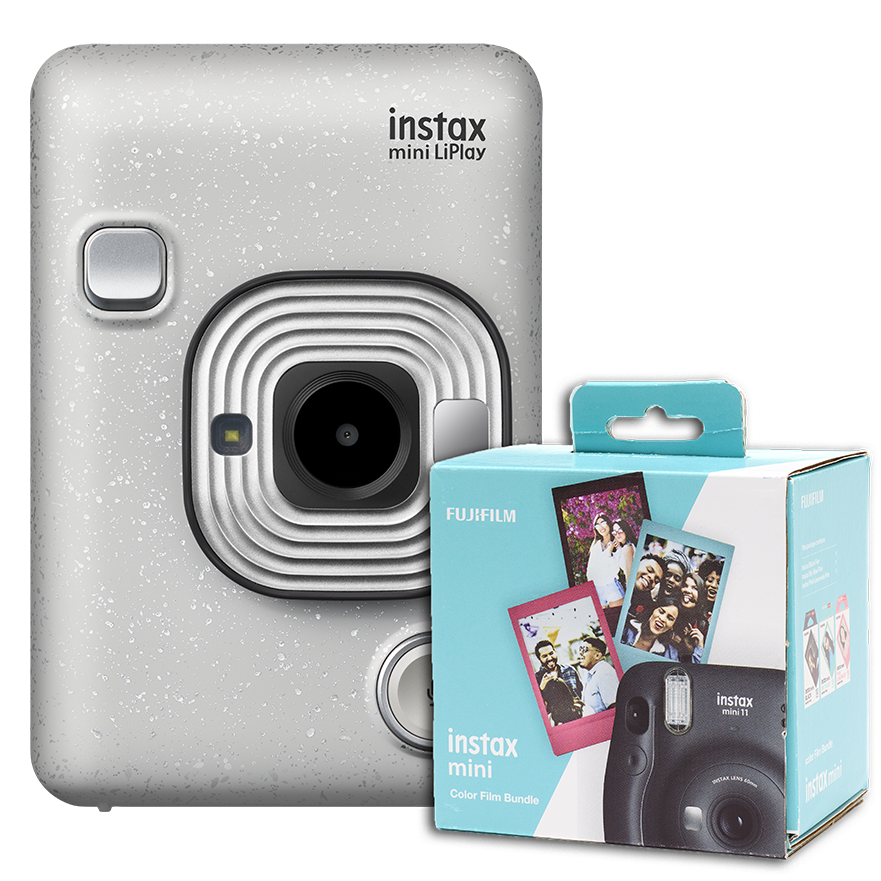 instax mini LiPlay Stone White + 30 films gratis!