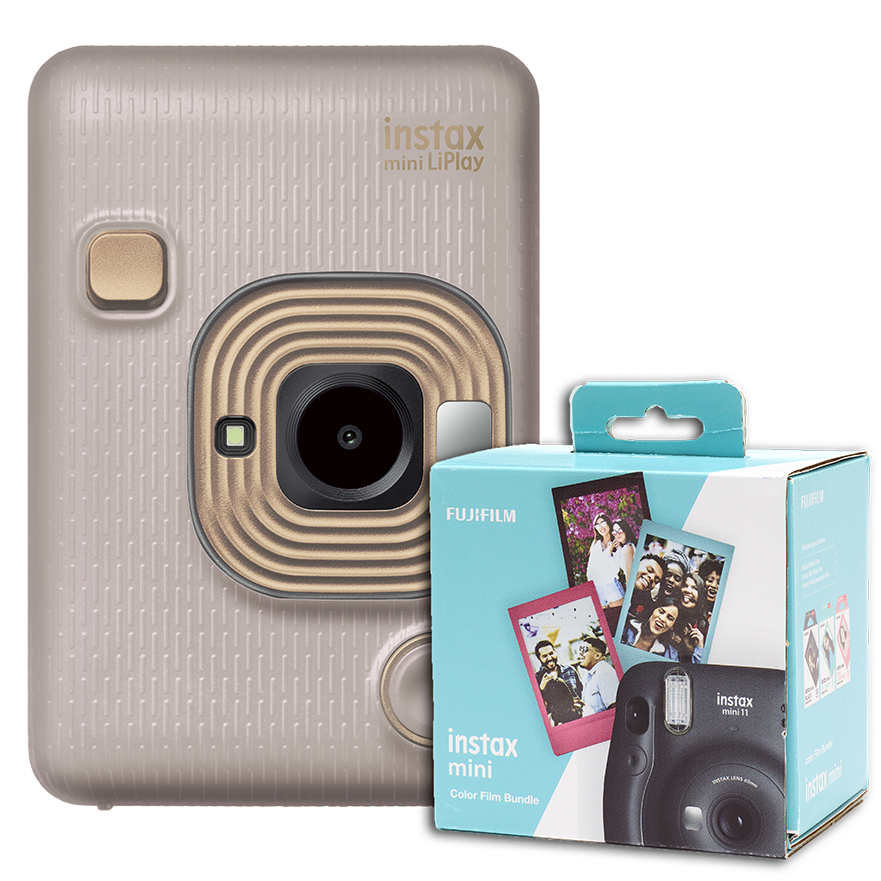 instax mini LiPlay Beige Gold + 30 films gratis!